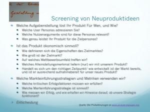 Screening von Neuproduktideen